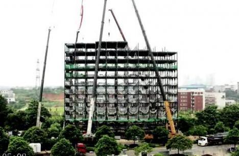 Hotel de 15 etaje, ridicat în doar şase zile (VIDEO)