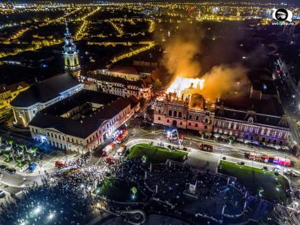 Există faptă, nu şi făptaş: După un an, Parchetul Oradea nu are, încă, suspect în cazul incendiului de la Palatul Episcopal Greco-Catolic