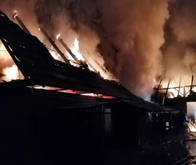 Incendii violente, în Bihor. Un bărbat de 51 de ani a ajuns la spital, după ce a încercat să stingă flăcările izbucnite în propria-i locuinţă (FOTO)