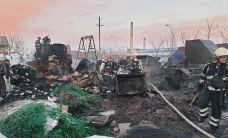 Incendiul uriaş din Parcul Industrial din Oradea, provocat de fumat (VIDEO)