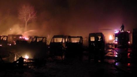 Pagubă de 3 milioane de euro: Român acuzat în Franţa că a distrus 109 maşini şi rulote