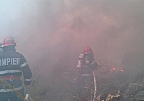 Incendiu în Paleu: O persoană a murit carbonizată