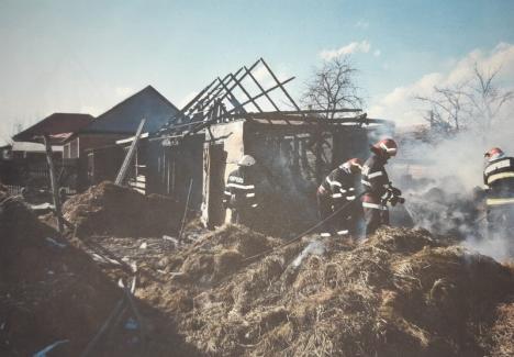 Incendiu violent la un şopron din Valea lui Mihai, provocat de o defecţiune electrică