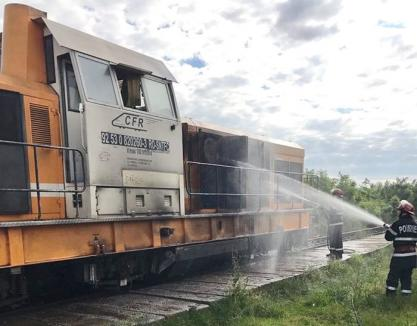 Incendiu în locomotiva unui tren ce venea spre Bihor: toţi pasagerii au scăpat fără răni