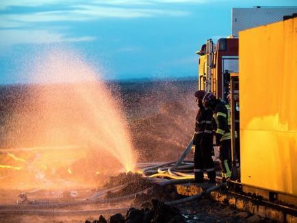 Mulţumiri pentru pompierii bihoreni de la compania ce deţine sonda de gaz care a ars 20 de zile