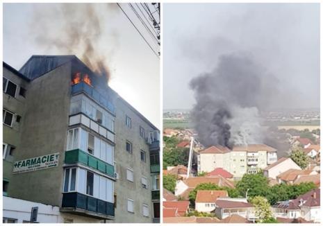 Cauza incendiului din blocul din Oradea: o ţigară lăsată aprinsă în balcon