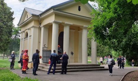 Încă un incendiu la capela din Parcul Olosig (FOTO)