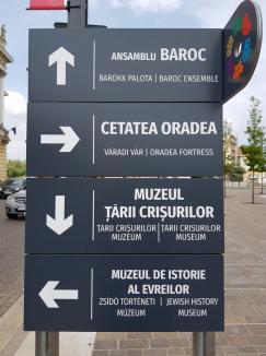 A dat-o-n bară, în maghiară! Primăria a tradus greşit plăcuţele turistice din Oradea, iar reprezentanţii UDMR şi PPMT spun că acest lucru este 'jignitor' (FOTO)