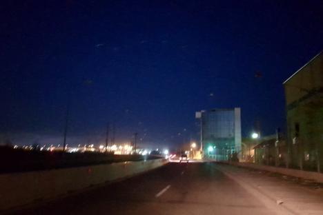 Beznă de la Cluj: Graţie CNAIR, iluminatul nu funcţionează pe o porţiune a centurii Oradiei