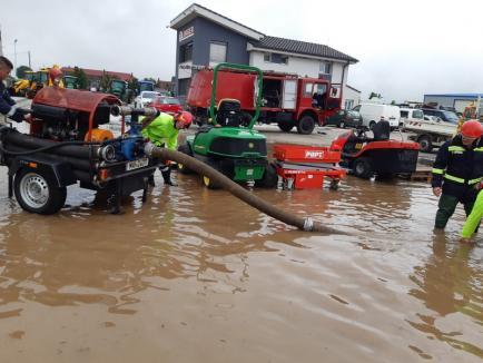 Viituri în Bihor: Apele au inundat mai multe gospodării din zona Beiuş – Ştei. Străzi inundate inclusiv în Oradea (VIDEO)