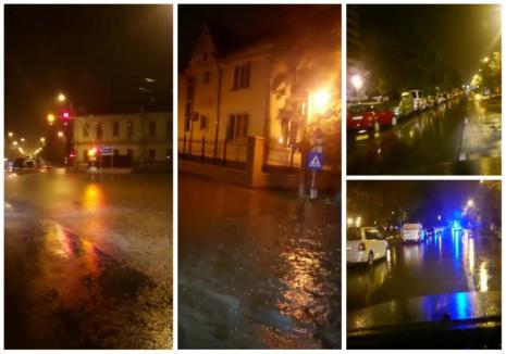 Oradea, din nou sub ape: Ploaia torenţială de duminică seară a inundat mai multe străzi (FOTO / VIDEO)