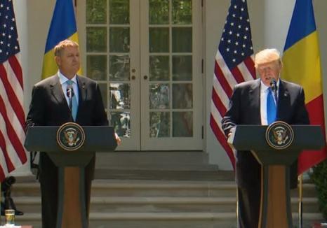 Trump, către Iohannis, la Casa Albă: 'Aplaud eforturile curajoase în lupta împotriva corupţiei şi pentru apărarea statului de drept' (VIDEO)