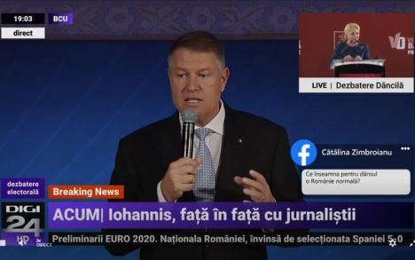 Klaus Iohannis, la întâlnirea cu jurnalişti şi studenţi: Discuţii de două ore şi jumătate, dar fără răspuns în ce priveşte... aria cercului (VIDEO)