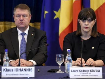 Bilanţ la DNA: Iohannis consideră eficientă activitatea procurorilor anticorupţie şi nu ia în calcul revocarea lui Kovesi