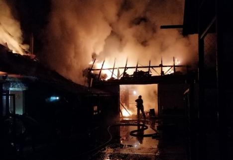 O casă din satul bihorean Păgaia, distrusă de un incendiu izbucnit la coşul de fum
