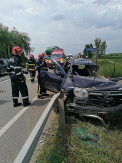 Accident în Bihor între o Dacia Duster, o autoutilitară Ford şi un TIR: Un orădean este în stare gravă(FOTO)
