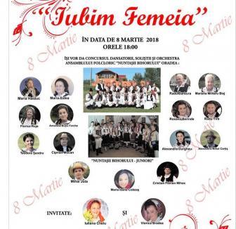 'Iubim femeia': Spectacol folcloric de 8 Martie, la Casa de Cultură a Sindicatelor