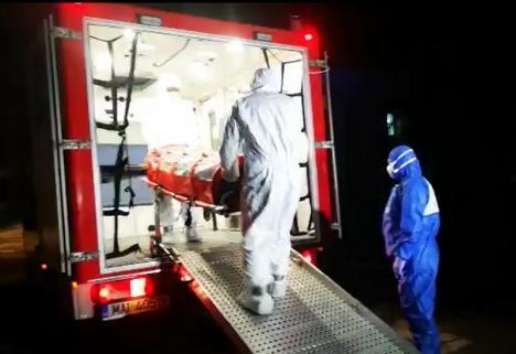 Suspect de coronavirus, internat în Oradea. A fost preluat cu izoleta din Borş(VIDEO)
