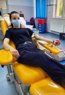 E criză de sânge: Jandarmii bihoreni au donat, pentru a-i ajuta pe medici să salveze vieţi
