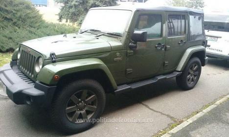 Furat din Marea Britanie, un Jeep Wrangler în valoare de 40.000 euro a fost găsit la frontiera Borş (FOTO)