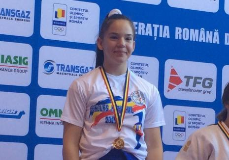 Orădeanca Iasmina Gyoker a devenit campioană națională la judo U14