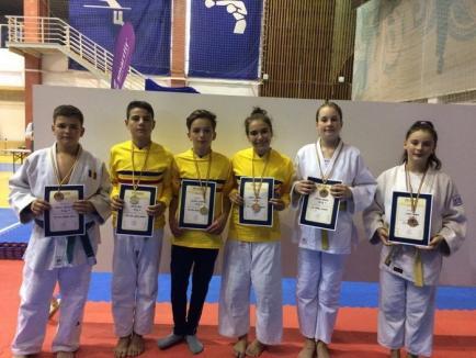 Zece medalii pentru sportivii orădeni la Finala Campionatului Naţional de Judo pentru copii