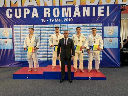 Trei medalii pentru judoka orădeni la Cupa României pentru seniori individual