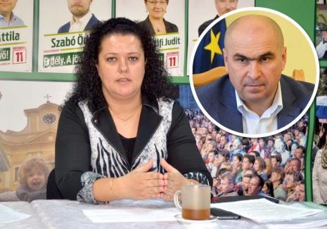 Consiliera UDMR Kirei Melinda îi cere lui Bolojan să îndulcească tonul