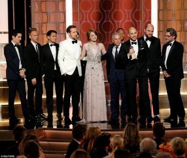 Musicalul 'La La Land', marele câştigător la Globurile de Aur (FOTO/VIDEO)