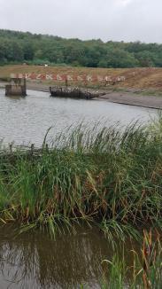 Lacul Paleu, fără apă. ABA Crişuri l-a golit, pentru a-l repara