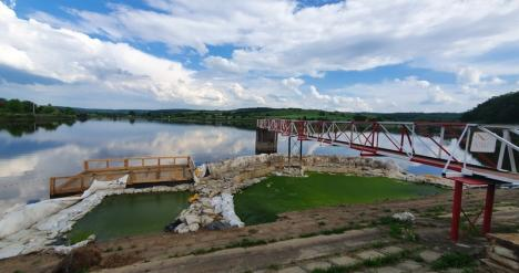 Cu încetinitorul: ABA Crişuri a început să repare barajul de la Paleu, dar lucrările evoluează lent (FOTO)