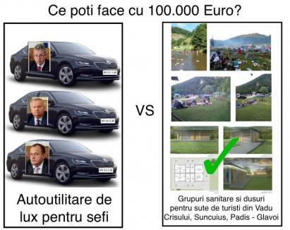 Maşini sau turism? Un consilier îi acuză pe şefii Consiliului Judeţean că preferă să-şi cumpere limuzine decât să investească în toalete pentru turişti