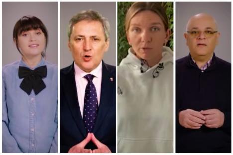 'Sunt doar un om': Cum vor Raed Arafat, Irina Rimes şi Simona Halep să-i convingă pe români să respecte regulile anti-coronavirus (VIDEO)