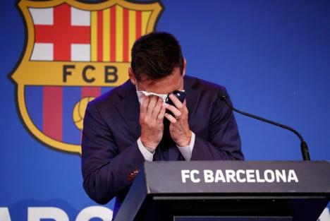 Messi, în lacrimi la plecarea de la FC Barcelona, după 20 de ani: 'Toată viaţa mea a fost aici' (VIDEO)