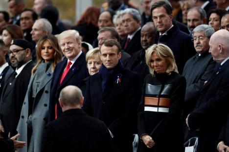 Ziua Armistiţiului: Preşedintele Franţei a criticat naționalismul în fața lui Trump și Putin (VIDEO)