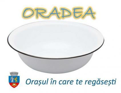 Oglindă în lighean: În criză de apă caldă, PSD-iştii propun un lighean ca logo al Oradiei