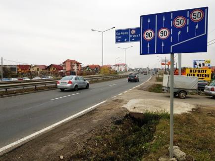 Drum bun! Limita de viteză pe centura Oradiei a fost majorată la 90 kilometri la oră