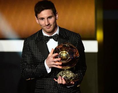 Messi a câştigat Balonul de Aur pentru a cincea oară