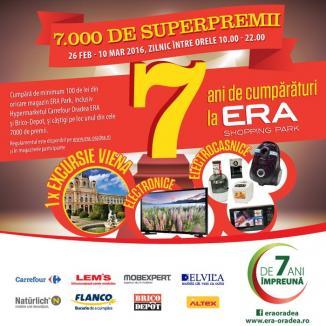ERA Park împlineşte 7 ani: 7.000 de super premii pentru clienţii centrului comercial!