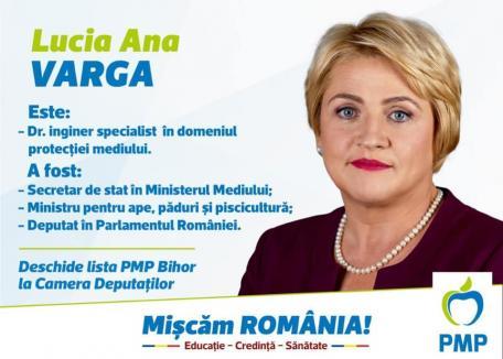 Afacerile și politica: Lucia Varga, noua șefă a PMP Bihor, strânge rândurile