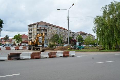 Atenţie, şoferi: Noi restricţii în sensul giratoriu din Calea Aradului (FOTO)