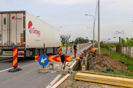 Au început lucrările pentru racordarea Aeroportului la şoseaua naţională DN 79 Oradea - Arad (FOTO)