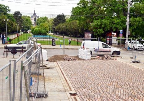 O lună de lucrări! Strada Parcul 1 Decembrie se va închide din 16 iulie pentru pietruirea trecerii de pietoni dinspre Vasile Alecsandri