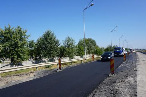 Finalizarea bretelei de ocolire a pasajului de lângă Piaţa 100 a readus la normal traficul pe şoseaua de centură (FOTO)