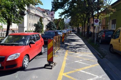 Evitați! Mai multe străzi din centrul Oradiei au fost închise, pe porțiuni, din cauza lucrărilor (FOTO)