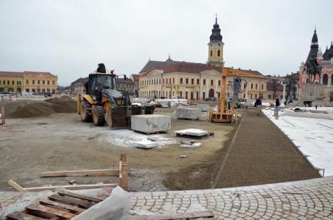 Înverzeşte! Vineri începe plantarea rulourilor de gazon din Piaţa Unirii (FOTO)