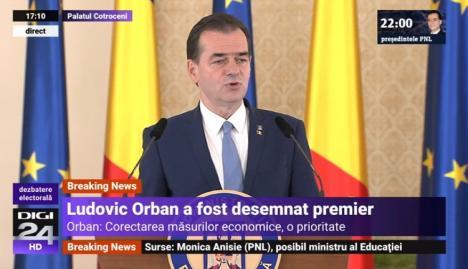 Ludovic Orban, desemnat premier al României