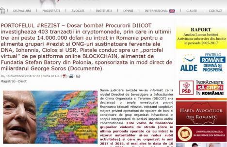 DIICOT ar ancheta ONG-uri anti-PSD, inclusiv Oradea Civică. Motivul? Ar fi primit 14 milioane de dolari, în bitcoini, de la Soros!
