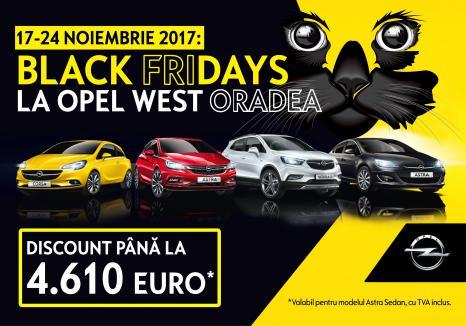 Reducere de până la 4.610 Euro de BLACK FRIDAY la Opel West