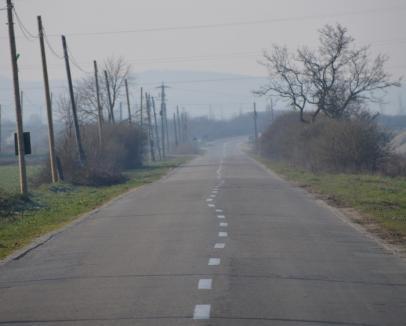 Dorel şi vopseaua: Marcajele rutiere de pe drumul de Ineu au fost trasate aiurea